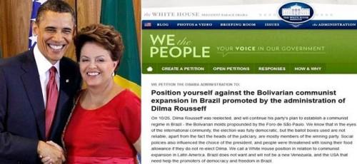 eua brasil dilma petição online comunista