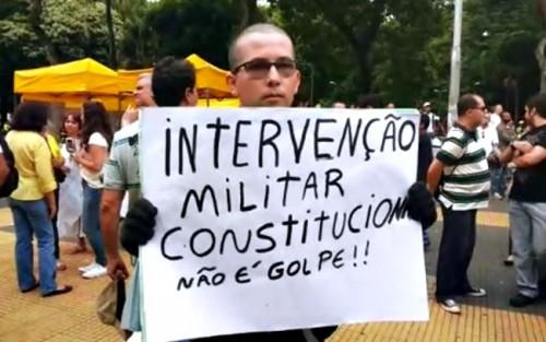 intervenção militar direita conservador golpe