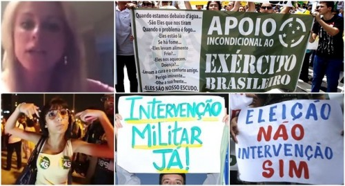 intervencao militar golpe brasil