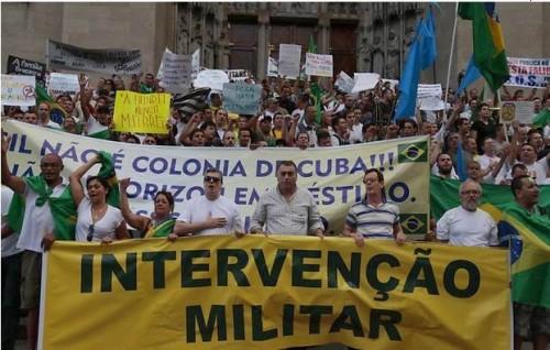 intervenção militar dilma impeachment