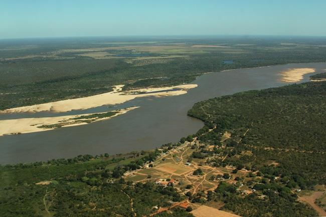 vista aerea aldeia indio brasil