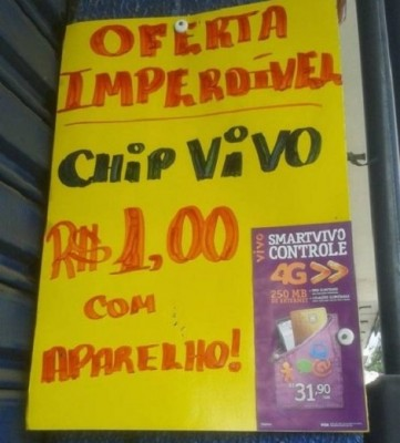 erro de português anúncio