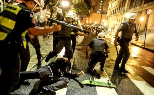manifestação são paulo repressão violência policial