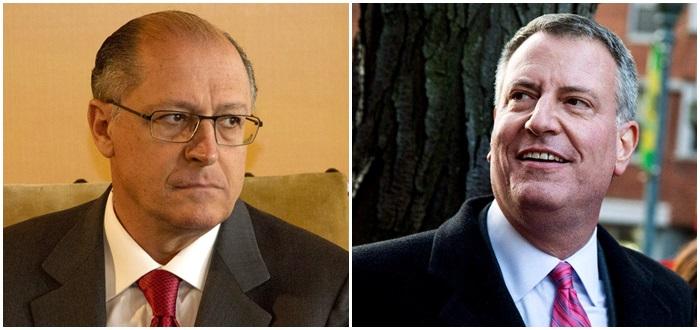 Geraldo Alckmin São Paulo água Bill de Blasio