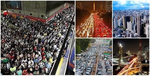 pessoas fugir São Paulo caos água