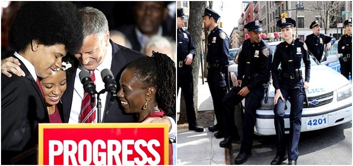 polícia Nova York prefeito racismo não