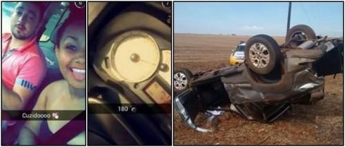 selfie acidente capotar carro palotina