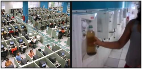 contax água marrom saúde funcionários
