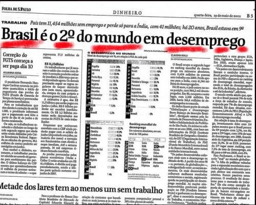 desemprego brasil fhc janeiro