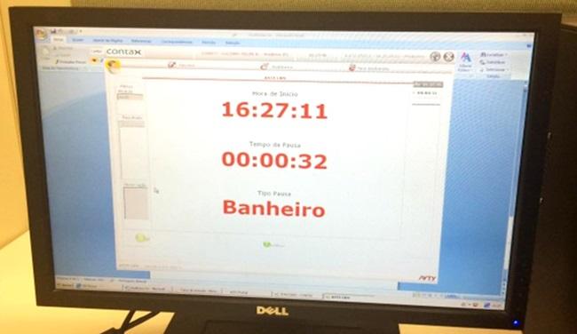 contax telemarketing tempo banheiro funcionários