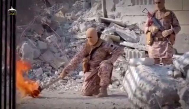 estado islâmico queima piloto vivo