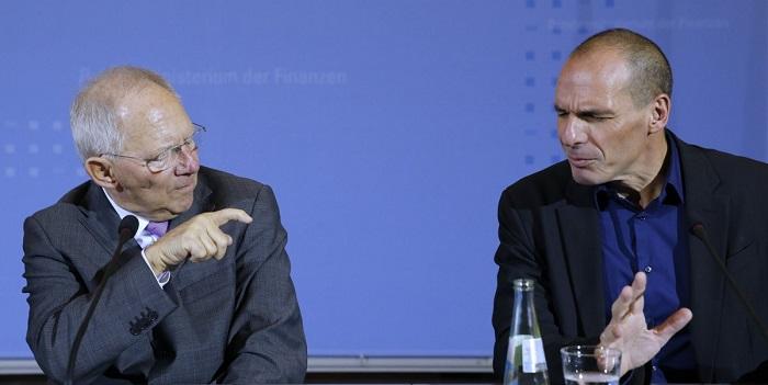 Yanis Varoufakis Wolfgang Schaeuble grécia