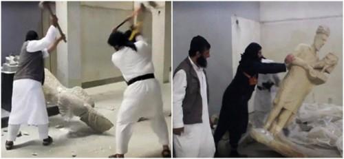 vídeo estátuas milenares estado islâmico assíria