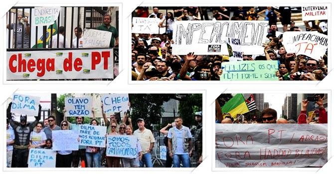 manifestações impeachment corrupção brasil direita 2015