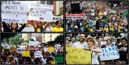 manifestações impeachment dilma fora pt