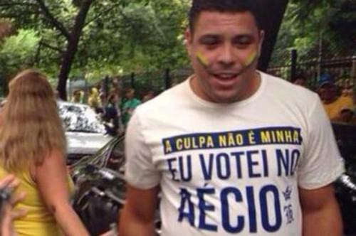 ronaldo votei aécio impeachment dilma