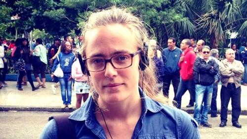 Lotten Collin jornalista sueca esquerda globonews