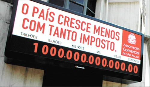 sistema tributário brasileiro impostometro economia
