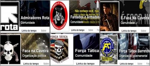 internet páginas facebook ódio policia militar