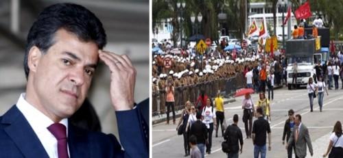 Paraná Professores protestos PSDB Beto Richa
