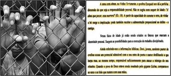 redução da maioridade penal justiça brasil menor