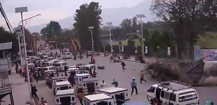 vídeo terremoto nepal