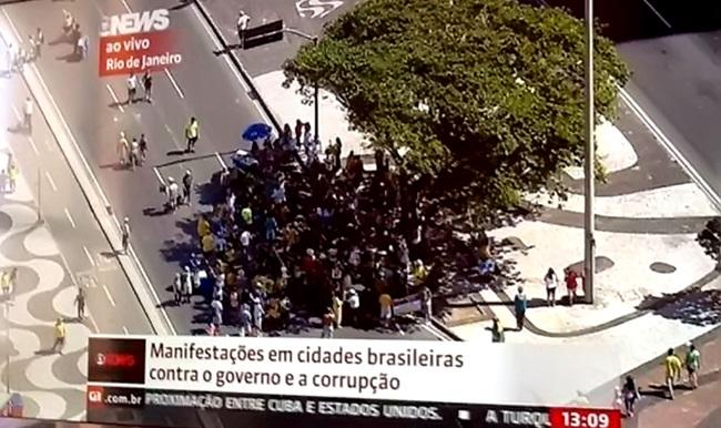 manifestação mídia direita impeachment dilma