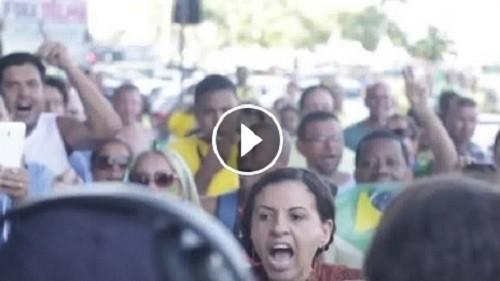 vídeo manifestações domingo 12 abril