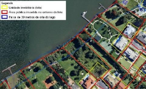 Brasília área invadida lago sul