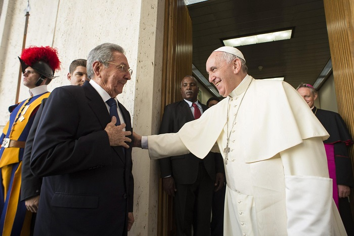raúl castro papa francisco vaticano