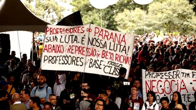 violência professores Paraná Beto Richa PSDB
