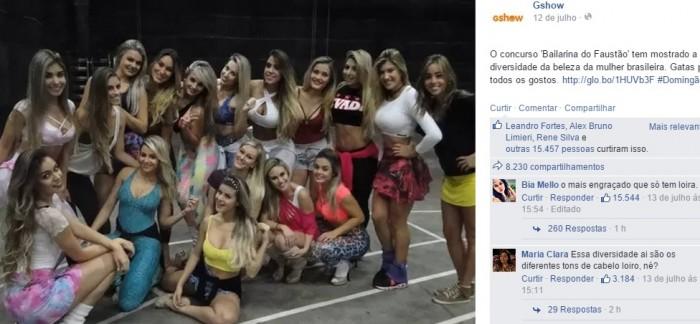 racismo globo bailarina faustão diversidade
