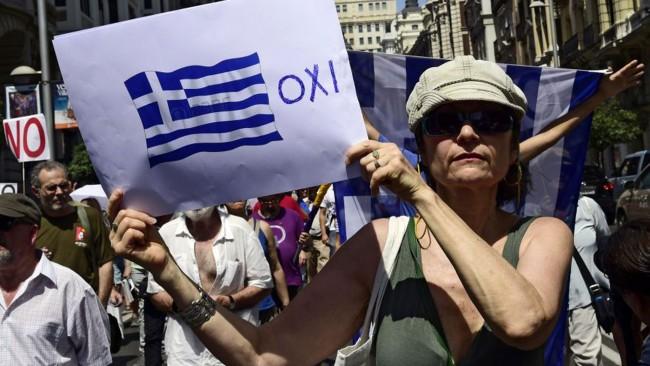 Gregos Grécia OXI votam Não