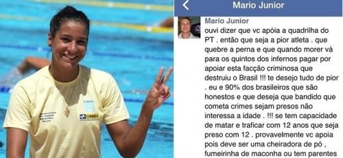 Joanna Maranhão redução maioridade penal