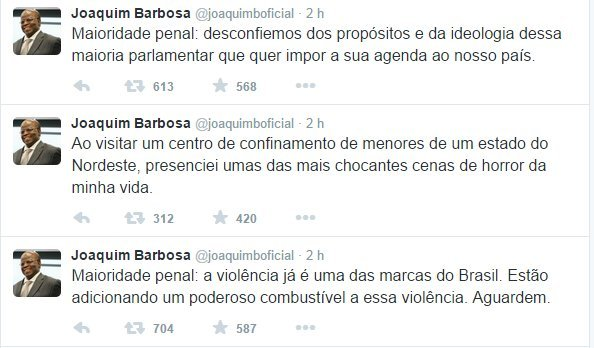 Joaquim Barbosa maioridade penal