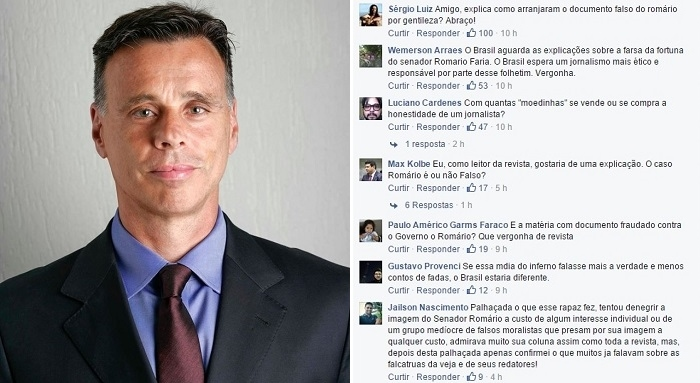 Veja Romário Facebook Lauro Jardim