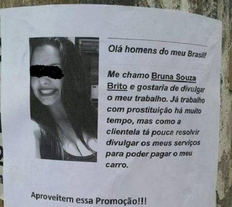 bruna cartaz prostituição