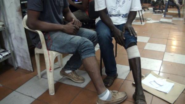 Haitianos baleados são paulo