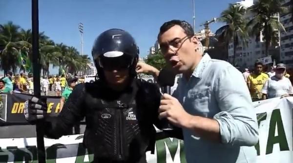 repórter chileno manifestações agosto 16