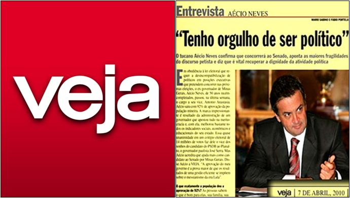 Aécio Neves Revista Veja Mídia desonesta