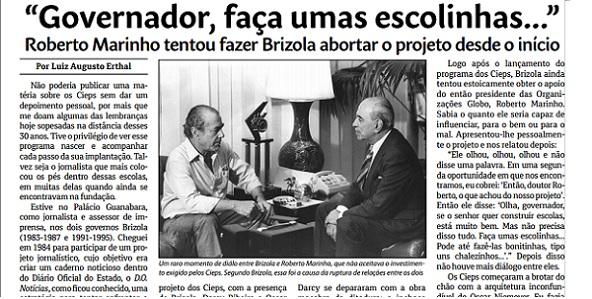 Brizola Marinho Globo Escolas