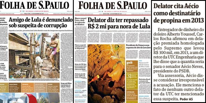 Aécio Neves corrupção Folha