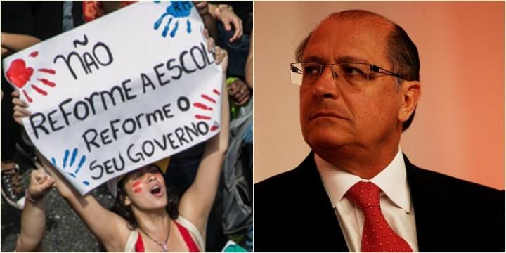 Alckmin escolas fechamento São Paulo