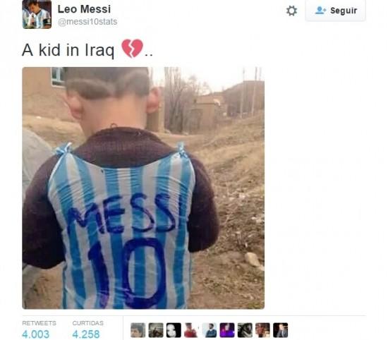 menino messi camisa iraque