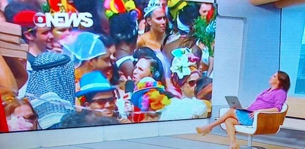 Folião Globo Carnaval Ali Kamel