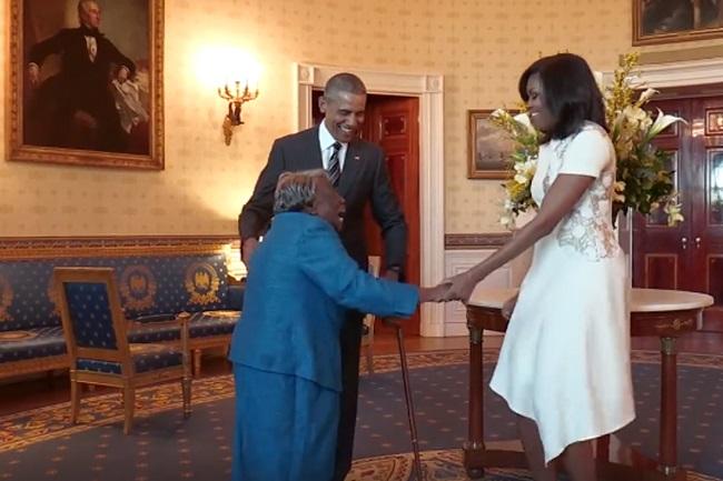106 anos Obama idosa dança