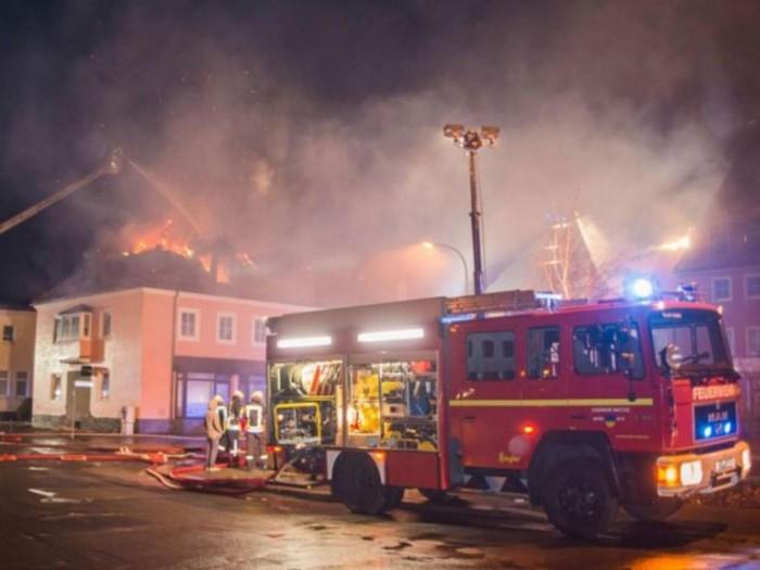 Alemanha incêndio refugiados
