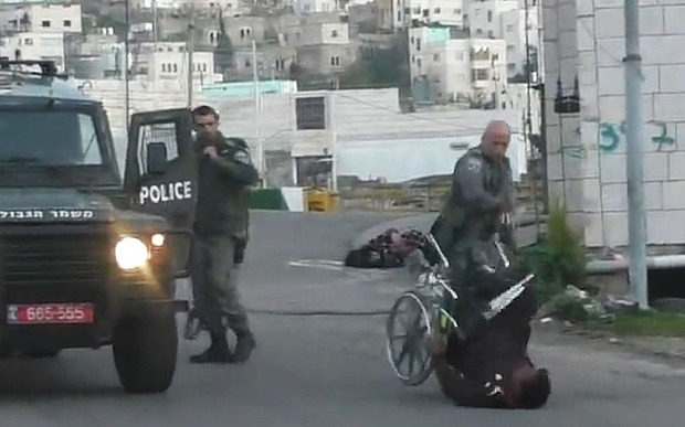 Israel Palestino cadeira de rodas