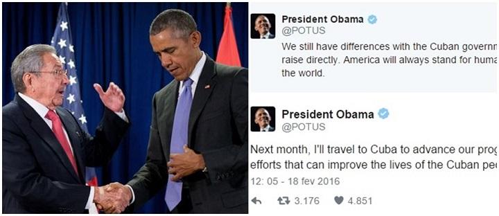 Cuba Obama viagem Castro