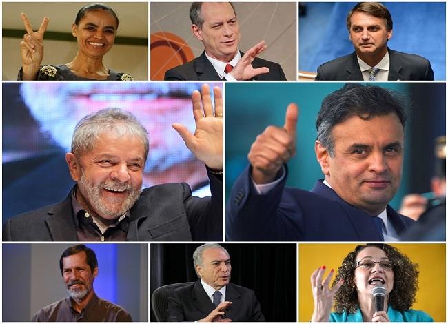 Aécio Lula Marina Bolsonaro Ciro